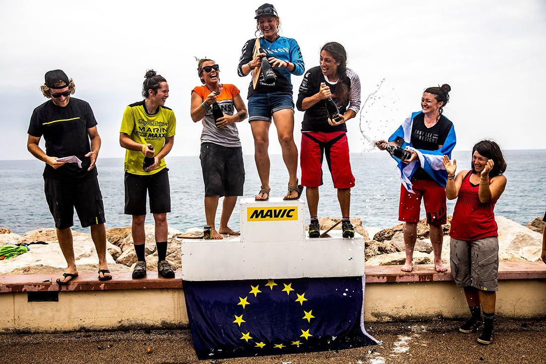 Juliana Bicycles - The women's podium at the Mavic Trans Provence