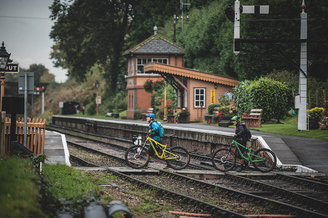 Juliana Bicycles - Stepping Onto the Train Platform