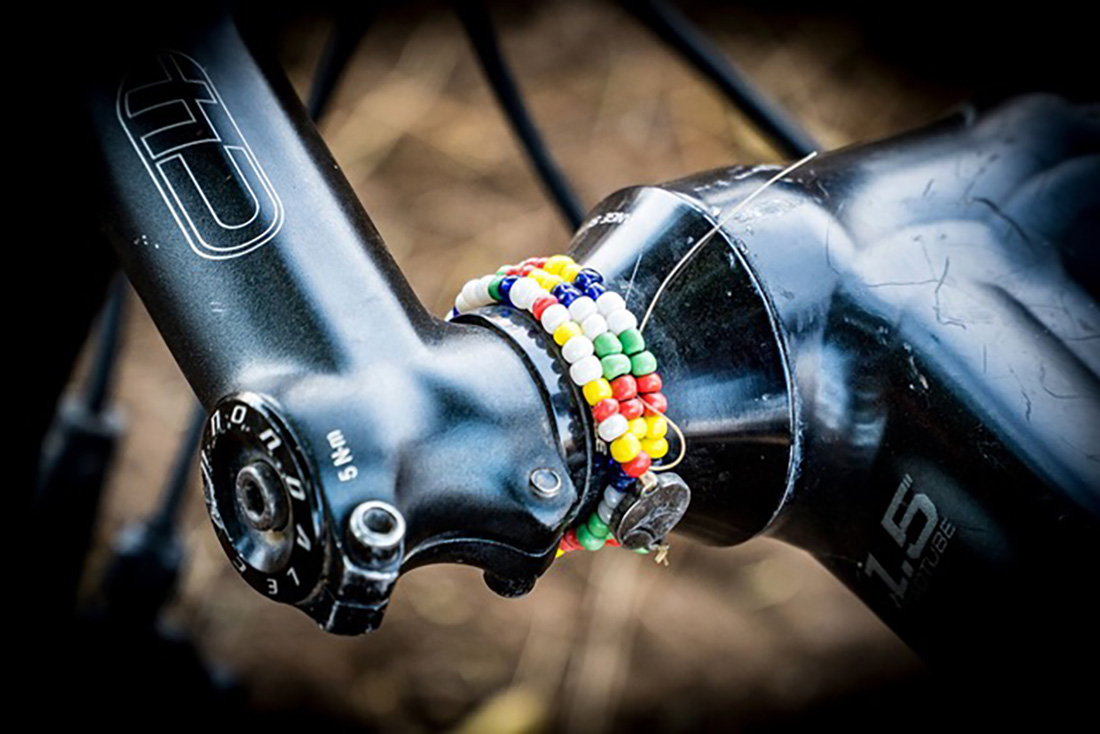 Juliana Bicycles - Anka Martin's Bracelet on Her Bike